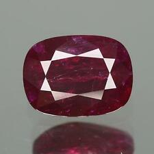 4.21 Cts GRS Certified ! 100%Natural Nice RED Color Unheated Mozambique Ruby