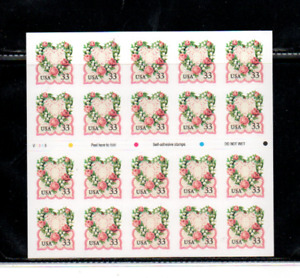 United States mnh booklet pane of 20 (33c love issue)