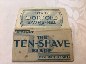 Vintage Razor Blade & Wrapper 'The Ten Shave'