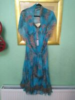 Per Una Marks And Spencer Women's Summer Blue Dress Size 10 BNWT