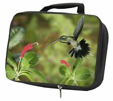 More details for green hermit humming bird black insulated school lunch box bag, ab-95lbb