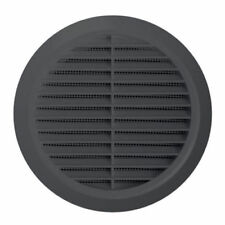 Graphite Circle Air Vent Grille 100mm 125mm 150mm Adjustable Ducting Size T36GR