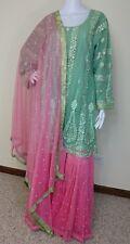 Pakistani Indian Designer Party Wear gharara XL 47-48 Inch