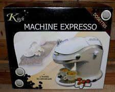 Kitch Espresso EASY maschine Kaffee Pad automat 750W 4Bar 0,3L Weiß Defekt
