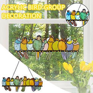 Bird Species Stained Pendant Window Hanging Acrylic Birds Hanging Decor 2021