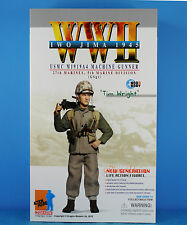 "DRAGON 1:6 FIGURE 12"" WW2 USMC Marine Soldier M1919A4 Machine Gun Gunner 70787"