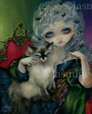 Princess with Ragdoll Cat Jasmine Becket-Griffith CANVAS PRINT rococo art gothic