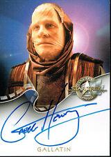 STAR TREK CINEMA 2000 AUTOGRAPH CARD A18 GALLATIN