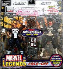 PUNISHER VS JIGSAW MARVEL LEGENDS Face-Off series 2 PVC figures 16cm Toy Biz