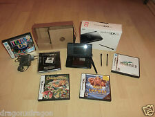 Nintendo DS Lite Nero in scatola originale, W. Nuovo, incl. 4 giochi (US-versioni), GARANZIA
