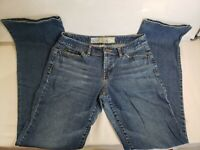 ANN TAYLOR LOFT WOMEN'S CURVY BOOT CUT JEANS Size 6  Regular Medium Wash