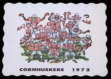 1972 NEBRASKA CORNHUSKERS FOOTBALL PLACEMAT  FREE SHIPPING IN THE USA