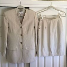 Liz Claiborne Collection Size 4 Women's 2 piece silk & linen skirted suit
