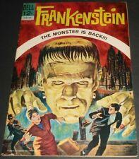 FRANKENSTEIN #1 VF+ (1963.DELL) THE MONSTER IS BACK .