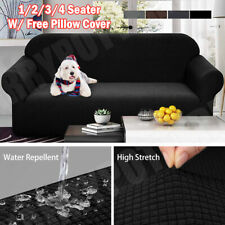 Elastic STRETCH SOFA COVERS Slipcover Protector Settee 1/2/3/4 Seater WATERPROOF