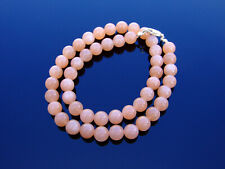 Sunstone Natural Gemstone Necklace 8mm Beaded Silver 16-30inch Healing Stone