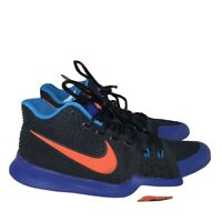Nike Mens Size 8 Black Blue Red Kyrie 3 Kyrache Basketball Shoes 852395-007
