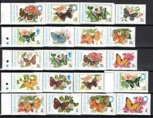 [COOK] COOK IS. 1987-1988 BUTTERFLIES, INSECT.. SET OF 20 STAMPS. SC#1215-1226H