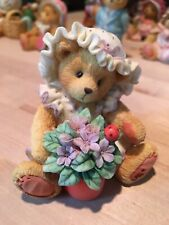 """Cherished Teddies~ Violet ~ """" Blessings Bloom When You Are Near """" ~1995 Vintage"""