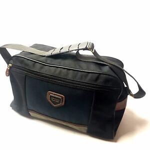 Vintage American Tourister Carry-On Travel Bag Luggage Suitcase Black Zip Pocket