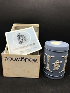 Ltd Edition (500) Wedgwood Jasperware Commemorative Lidded Spice Jar (Y2 369)