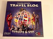 Travel Blog Board Game - Factory Sealed -  Europe and Asia  - Z-MEN Games  2010