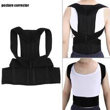 Posture Back Corrector Lumbar Shoulder Support Belt Brace Protector Steel Plate M