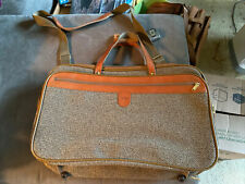 Vintage Hartmann Tweed And Leather Carry On Luggage. NWOT. Excellent Shape