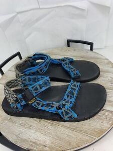 🦆TEVA Men's Original Universal Webbing Sandals Size 9 Blue