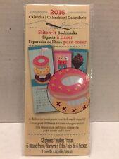 2016 calendar 12 stitch it bookmarks Sweets Studio 18