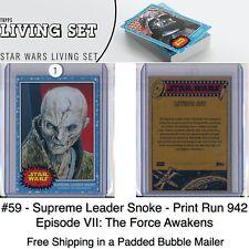 Topps Star Wars Living Set - Card #59 Supreme Leader Snoke - The Force Awakens