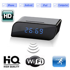 720P HD 160º Wide Angle Alarm Clock Hidden Spy Motion Detection P2P WiFi Camera