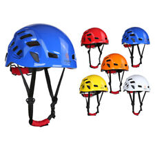 Rock Climbing Helmet with Head Lamp Clips Air Vent for Outdoor Rescue Caving