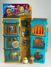 Eraserland Gomu Series 2 Blue Playset Case Storage w Monkey & Bird Erasers HTF