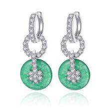 S2 Made With Swarovski Crystals The Kusa Jade Green Drop Earrings $118
