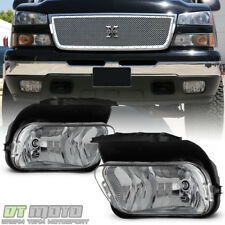 2003-2006 Chevy Silverado Avalanche Bumper Fog Lights Lamps Left+Right 04 05 06
