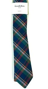 Goodfellow Mens Plaid Herrick Tie Navy Multicolor One Size
