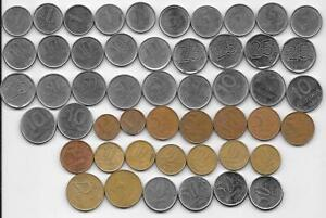 Dealer Flea Market Old World Coins 50 Brazilian Mixed Dates/Types 1980-2000s
