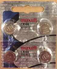 4 Maxell Hologram LR44 A76 L1154 AG13 357 303 Button Cell Batteries-USA SELLER