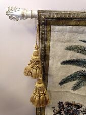 2 Set Old World Style Double Chair Vase Lamp Tapestry TASSEL rope Tie-back GOLD