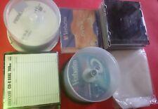 LOTTO DI CD e DVD VERGINI + CUSTODIE RIGIDE E FLESSIBILI