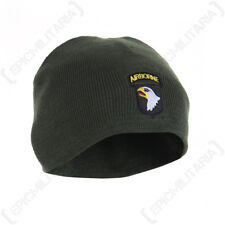 101st Airborne Beanie Hat - American Army Soldier Eagle Winter Knitted Green New