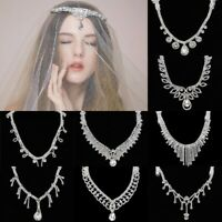 Bridal Crystal Rhinestone Head Chain Headband Hair Jewelry Prom Party Head Piece