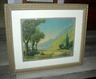VINTAGE SIGNED 1930 ROBERT ATKINSON FOX SERENITY PRINT FRAMED MATTED LITHOGRAPH