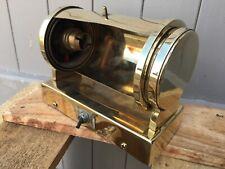 Ancienne lampe de manette en cuivre et laiton
