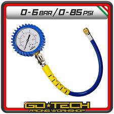 MANOMETRO CONTROLLO PRESSIONE GOMME 63 mm MISURATORE PRECISO PNEUMATICI 0-6 bar