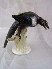 Alte KPM Berlin Figur Vogel Elster auf Ast Pedrozzi Figurine Figure 25 cm