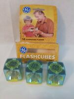 Vintage GE Camera Flash Cubes 3 cubes 12 Flashes