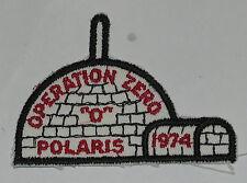 Adirondack Council (NY) Polaris Dist 1974 Operation Zero Pocket Patch  BSA