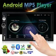 "7"" Touchable Car Universal Android Navigation MP5 Player GPS Bluetooth Dash Part"